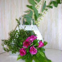 Sac en zinc et ses fleurs naturelles