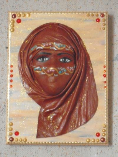 Masque africain feminin aux grands yeux noirs cr ation for Miroir africain