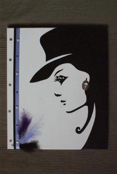 La femme et son chapeau noir et blanc cr ation home for Tableau portrait noir et blanc