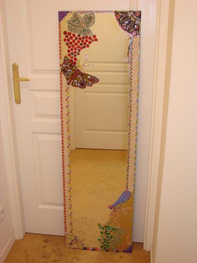 grand miroir style art nouveau et son papillon cr ation mosa que de cathou94 n 35 243 vue. Black Bedroom Furniture Sets. Home Design Ideas
