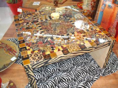 Table z bre cr ation home d co et miroir de valerie712 n for Miroir zebre