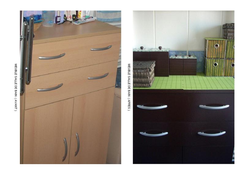 meuble salle de bain relook en bois obscure cr ations peinture multi supports de brittany 12. Black Bedroom Furniture Sets. Home Design Ideas