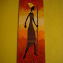 Paravent  Femme africaine 1er panneau