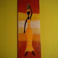 Paravent  Femme africaine 2ème  panneau
