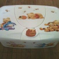 Décoration de boite à lingettes bébé WINNIE L'OURSON