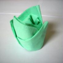 Couronne verte - pliage serviette