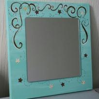 Miroir turquoise