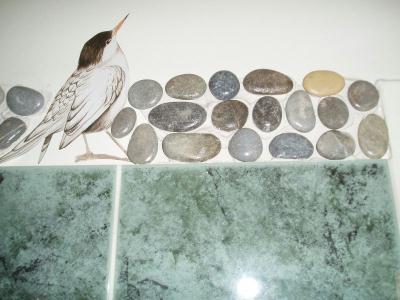 Frise en galet pour salle de bain cr ation mosa que de valeacrea n 3 819 vue 32 527 fois - Salle de bain frise mosaique ...