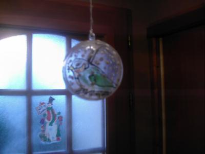 Oiseau dans une boule de noel cr ation windows color de - Windows color noel ...