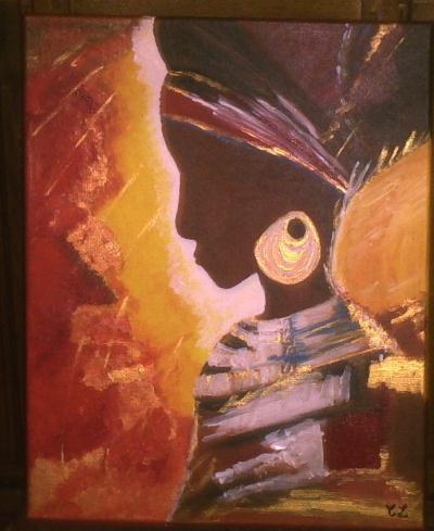 beaux arts peinture galerie creations visage africain