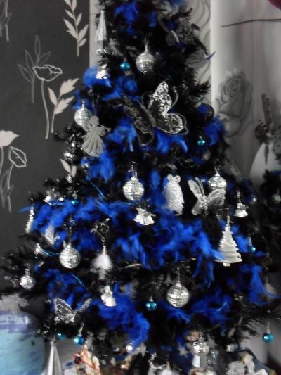 sapin bleu argent et noir cr ation d coration de f tes de butterfly80 n 38 483 vue 9 104 fois. Black Bedroom Furniture Sets. Home Design Ideas