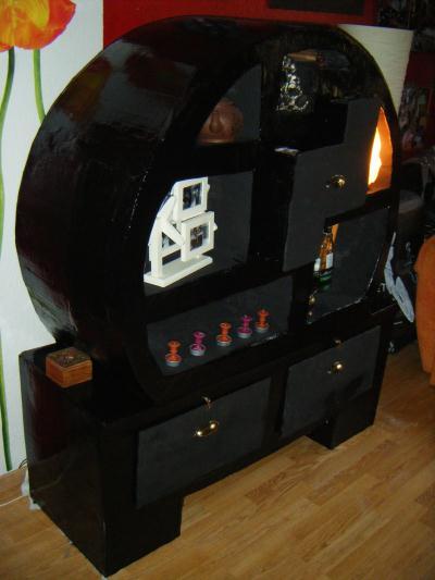 meuble noir en carton chinois cr ation meuble en carton de niveun n 38 774 vue 3 364 fois. Black Bedroom Furniture Sets. Home Design Ideas
