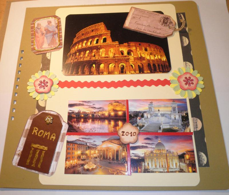 Couverture Album Rome Cr Ations Scrapbooking De