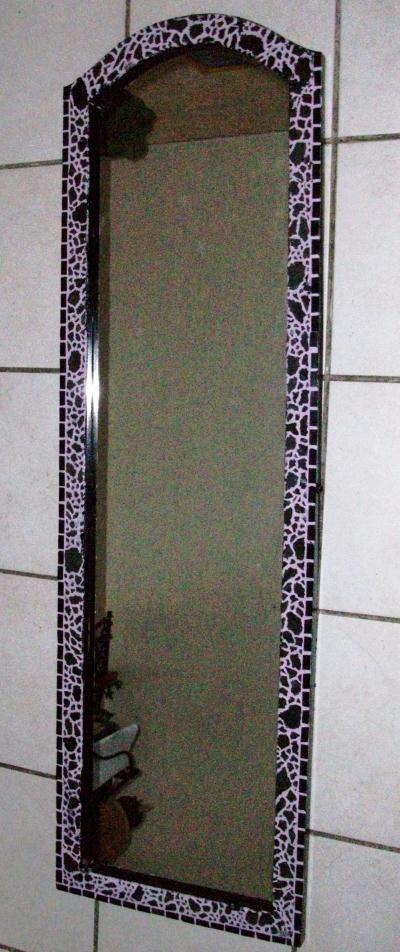 Miroir oriental en crackle mosaic cr ation mosa que de for Miroir oriental