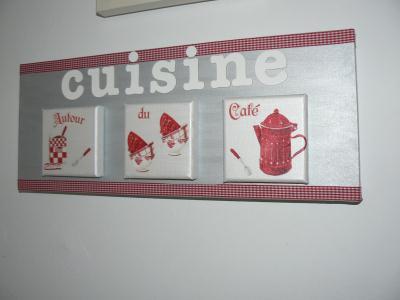 Toile Cuisine Rouge Et Gris Alu Cr Ation Serviettes En
