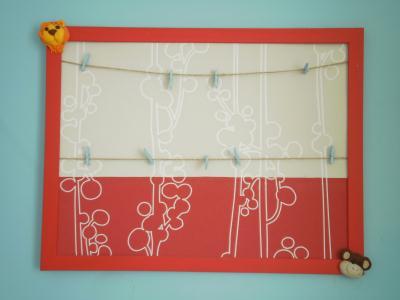 P le m le rouge et blanc chambre enfant cr ation chambre for Pele mele chambre enfant