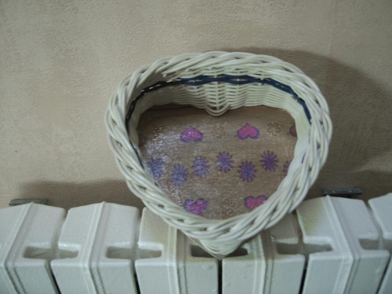 Panier Tressé En Forme De Coeur : Panier osier en forme de coeur au fond d?cor? cr?ations