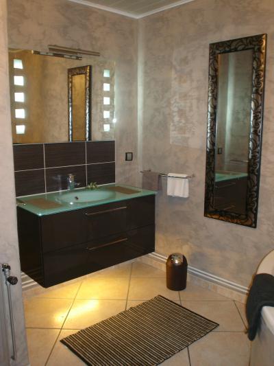 Nouvelle d co salle de bain 1 cr ation peinture multi for Nouvelles tendances salle de bain