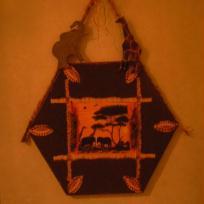 L'afrique collage de serviette