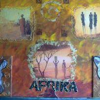 Afrika tout en couleur serviettes