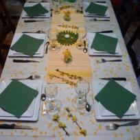 Table de printemps pour un anniversaire