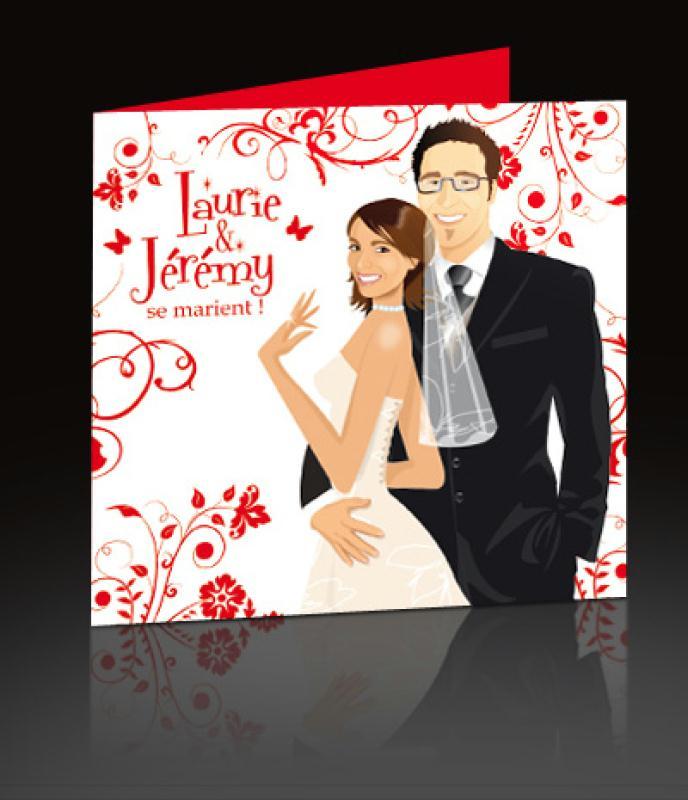 Faire Part De Mariage Th Me Blanc Et Rouge Cr Ations Carterie Faire Part De Postscriptum N