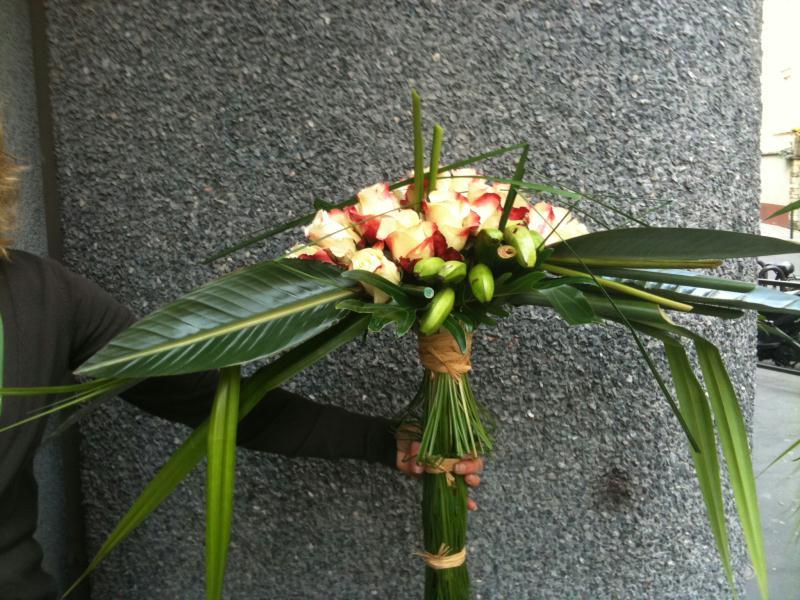 Bouquet exotique pastel cr ations art floral de annalise for Bouquet exotique