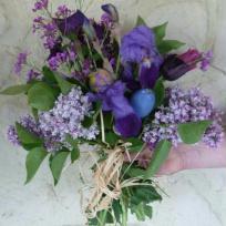 Bouquet mauve tout simple du jardin