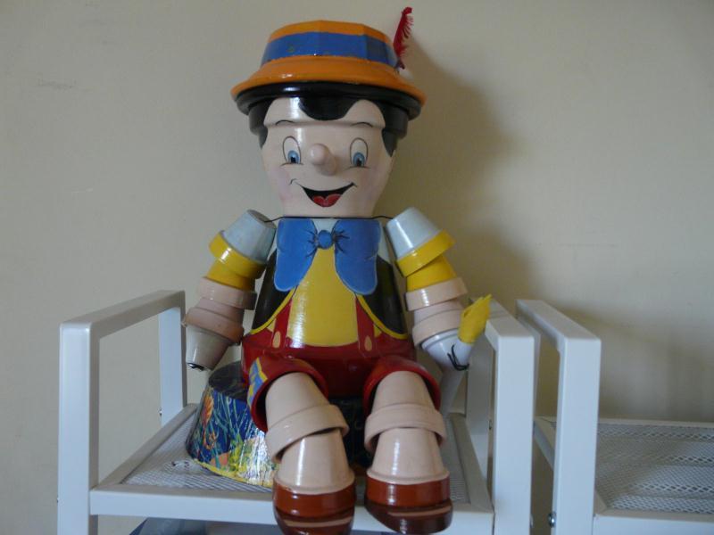 Pinocchio l 39 ami des tout petits cr ations personnage en pot de kili n 40577 vue 5608 fois - Nouveaux personnages en pots de terre cuite ...