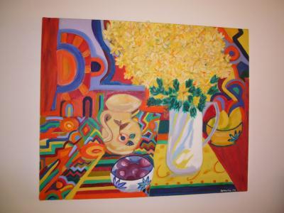 Mon tableau deco cuisine cr ation peinture multi for Deco cuisine 1970