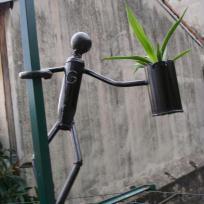 Porte plante bonhomme pour Gaby