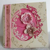 Carte Fleurie style shabby