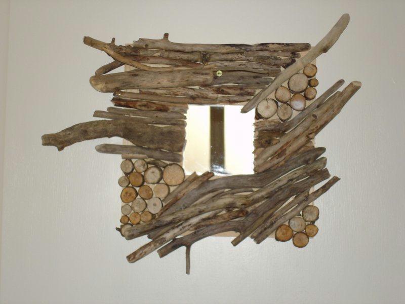 cadre en bois flott cr ations home d co et miroir de ardoisienne n 4133 vue 4552 fois. Black Bedroom Furniture Sets. Home Design Ideas