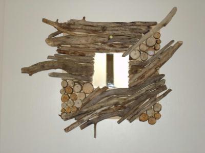 Cadre en bois flott cr ation home d co et miroir de for Cadre en bois flotte technique