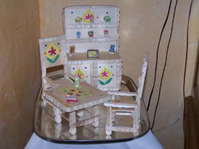 salle manger en pingle linge en bois cr ation. Black Bedroom Furniture Sets. Home Design Ideas
