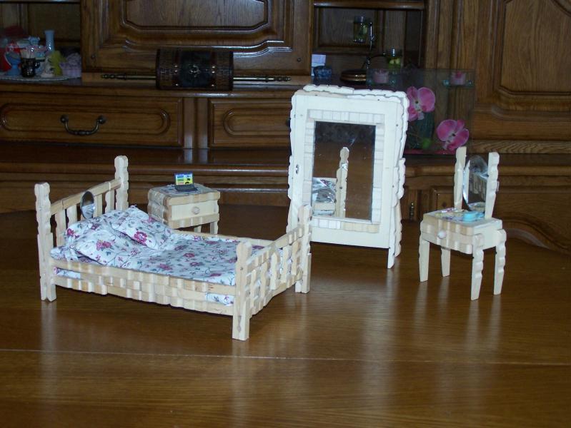 chambre coucher avec armoire en pingle linge cr ations cr ation en pinces linge de. Black Bedroom Furniture Sets. Home Design Ideas