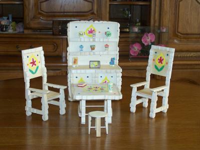 Salle Manger Compl Te Miniature Cr Ation Cr Ation En Pinces Linge De Marco76 N 41 596 Vue