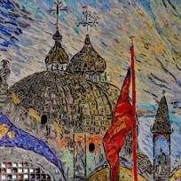 Sous le ciel de Venise, mosaïque