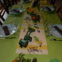 table champetre pour anniversaire d'enfant.
