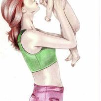 Maman et bébé en osmose...