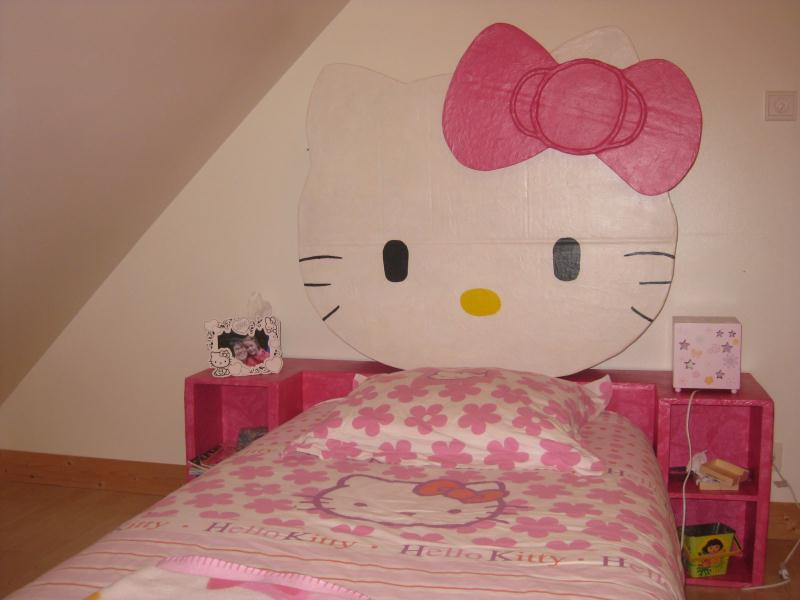 T te de lit hello kitty en carton cr ations meuble en - Tete hello kitty ...