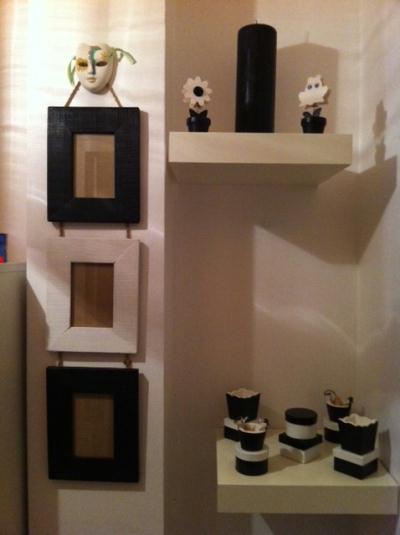 d co pour mon couloir en noir et blanc cr ation home. Black Bedroom Furniture Sets. Home Design Ideas