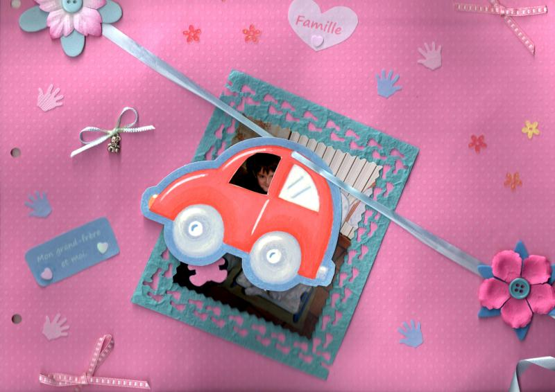 album photo naissance fille scrapbooking voiture cr ations scrapbooking d. Black Bedroom Furniture Sets. Home Design Ideas