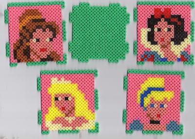 Pot de crayons en perles Hama - Princesses Disney.