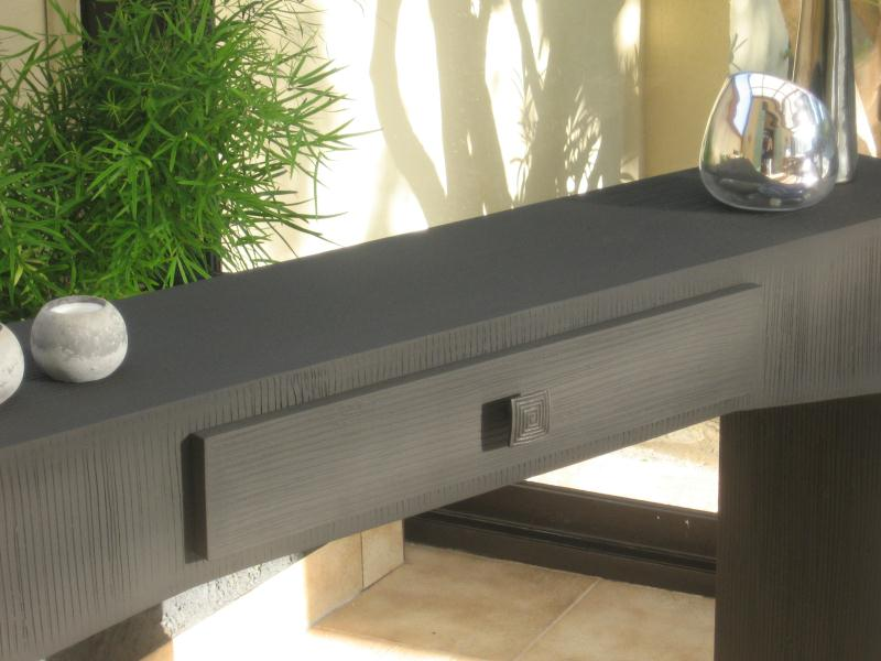 Cr ation meuble en carton table console design - Meuble en carton design ...