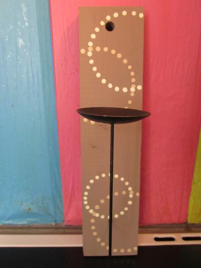 cr ation d 39 un bougeoir murale en bois et fer cr ation. Black Bedroom Furniture Sets. Home Design Ideas