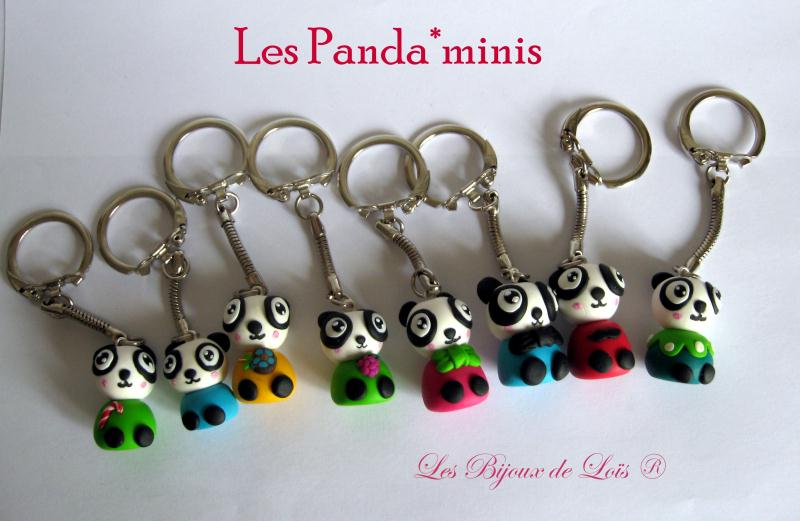 cr ation porte cl p te fimo panda de toutes les couleurs cr ations bijoux en fimo de loleka. Black Bedroom Furniture Sets. Home Design Ideas