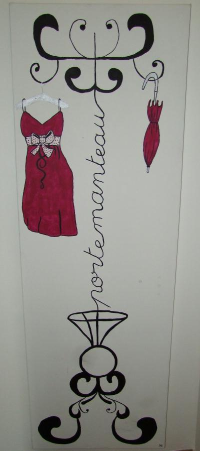 cr ation peinture acrylique cadre porte manteau cr ation home d co et miroir de sarha n. Black Bedroom Furniture Sets. Home Design Ideas