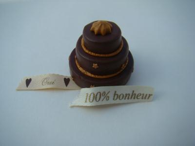 pâte Fimo : gâteaux de mariage au chocolat - Création Modelage de ...