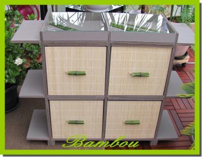 Cr ation meuble en carton d cor bambou cr ation meuble for Creation meuble carton